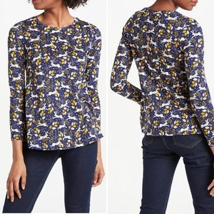 Boden Libby Jersey Top Navy Field Hare  #4729